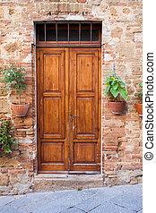 Old elegant door in Italy