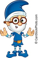 Old Elf in Blue Character