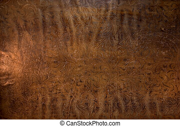 Old Embossed leather - Found these leather sheets almost ...