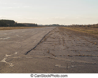 old empty airport runway