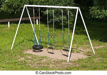 old empty swing