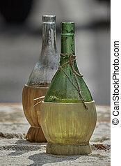 old empty wine bottle