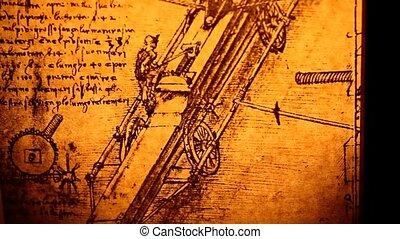 Old Engineering drawing - 14th Century Leonardo da Vinci...
