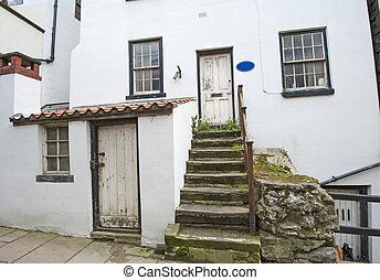Old english country cottage in village
