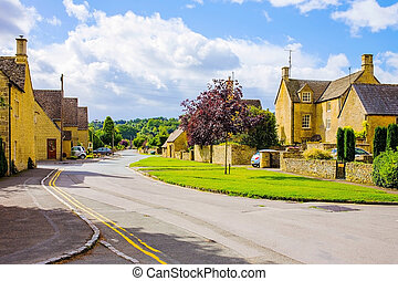 Old English village in Cotswolds area