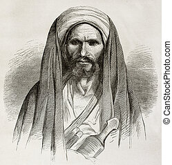 Bedouin - Old engraved portrait of a Bedouin. Created by...