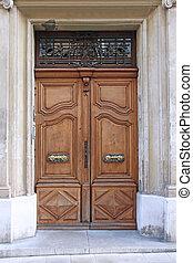 Old entrance door