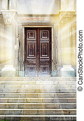 Old entrance. Element of design.