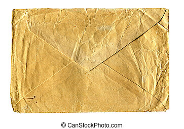 Old Envelope isolated