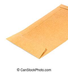 Old envelope on white background.