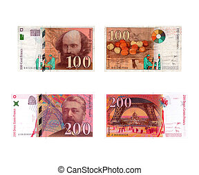 Old European currency: Francs Fran�ais (French Francs)