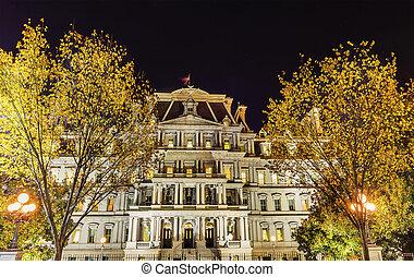 Old Executive Office Building Night Washington DC