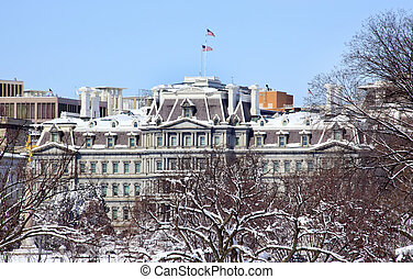 Old Executive Office Building Vice President Office After the Snow Constitution Avenue Washington DC