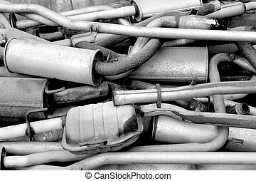 Old exhaust pipes