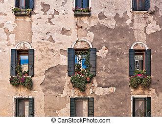 Old Facade of the Italian house