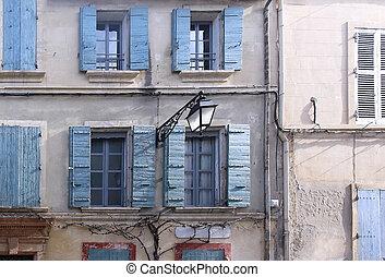 Old facade windows