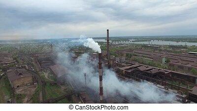 Old factory smoke stack