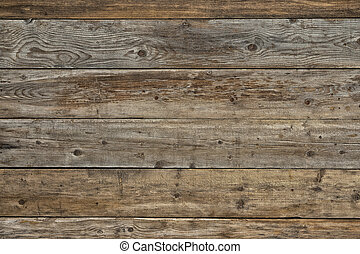 Old faded dull pine natural dark wooden background