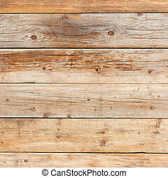Old faded yellow pine natural wood square background texture