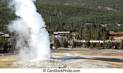 Old Faithful Fast Motion - Fast motion view of Old Faithful...