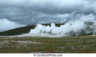 Old Faithful Geyser, Yellowstone NP - Old Faithful Geyser,...