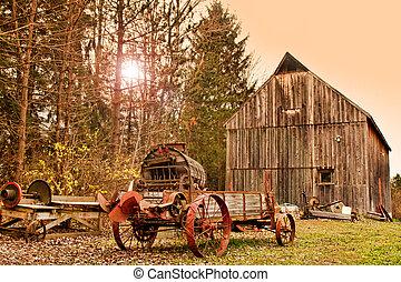 old farm and farm machinery