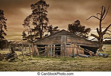 old farm building