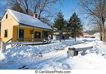 Old Farm Buildings in Winter