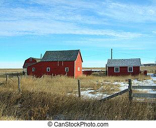 old farm buildings
