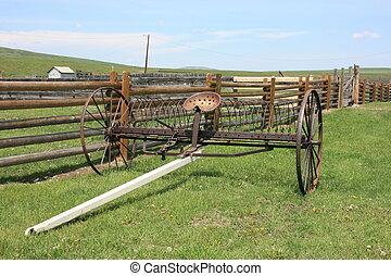 Old Farm Equipment - Old farm equipment in Alberta, Canada.