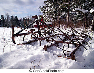 old farm harrow Lunenburg County Nova Scotia Canada