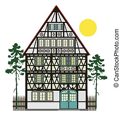 Small Farmhouse Clipart 1