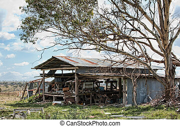 old farm shed falling apart - old farm shed neglected and in...