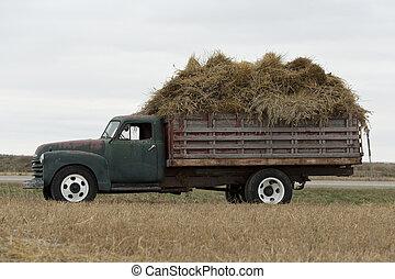 An old farm truck in North Dakota