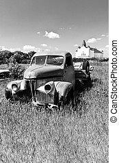 Old Farm Truck by the Church