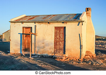 Old farm worker house