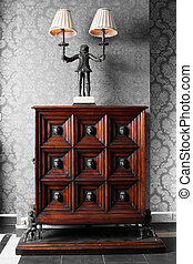 stylish and brand new bright european cabinet