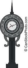 old-fashion clock with pendulum