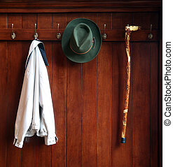 Old fashion clothes - Still life od a wooden clthes rack...