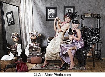 Old-fashion girls