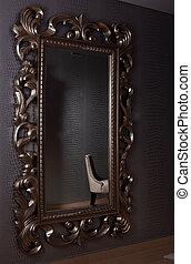 old fashion mirror in interior