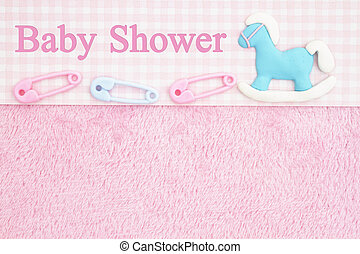 Old Fashion Pink Baby Shower Background