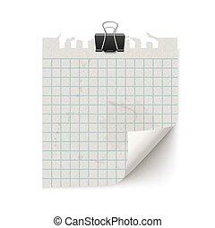 Old fashion sticky notebook paper sheet