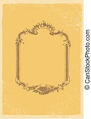Old fashion vector frame.