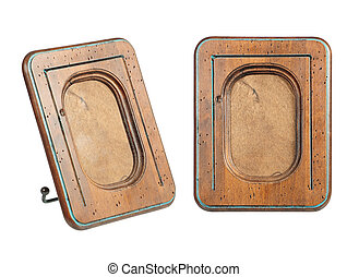 old-fashion wooden frame of rounded rectangle form
