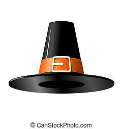 Old-fashioned black hat