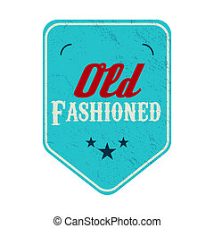 Old fashioned blue pennant label, vintage style