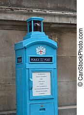 Old fashioned Blue Police box