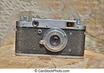 Old fashioned camera is in good shape