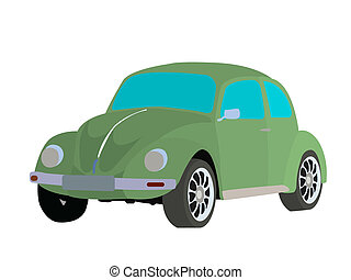 Old fashioned car vector image